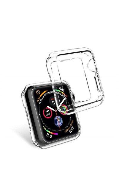 Apple Watch Seri 5 40 mm Önü Açık Tasarım Silikon Kılıf - Şeffaf