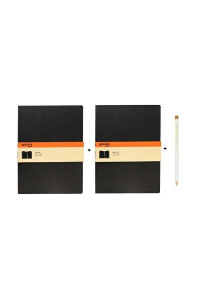 My Note 19x26cm Siyah Defter 2'li Takım
