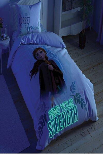 Lisanslı Disney Frozen Double Çift Taraflı Parlayan Tek Kişilik Nevresim Takımı
