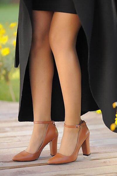 Taba Kadın Topuklu Ayakkabı A2119-19