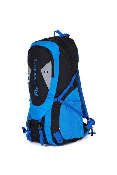 Mavi - Siyah Unisex  Outdoor Dağcı Sırt Çantası 70l Lmçan7106