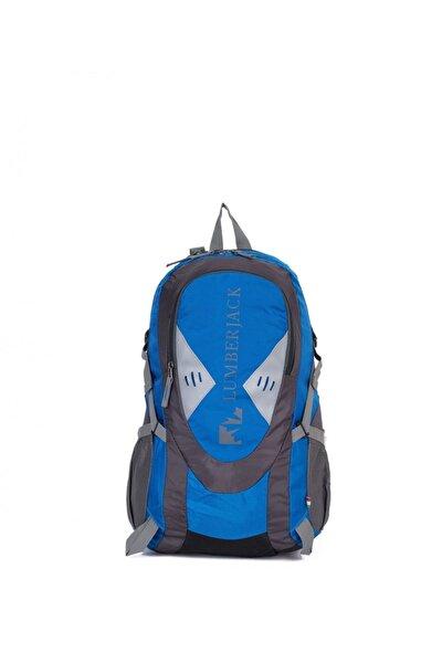 Mavi - Siyah Unisex  Outdoor Dağcı Sırt Çantası 35l Lmçan7382