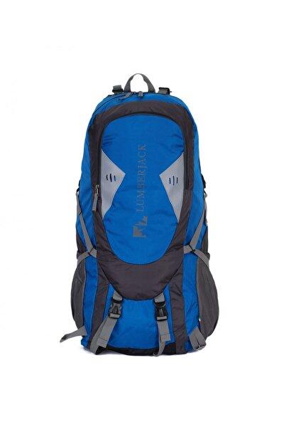 Mavi - Siyah Unisex  Dağcı Sırt Çantası 80l Lmçan7385