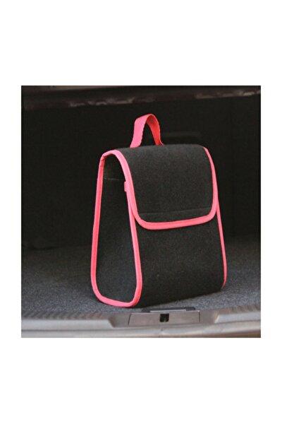 Mini Taban Cırtlı Kaydırmaz Bagaj Düzenleyici Halı Eşya Çantası Siyah&kırmızı Kenar Hl400