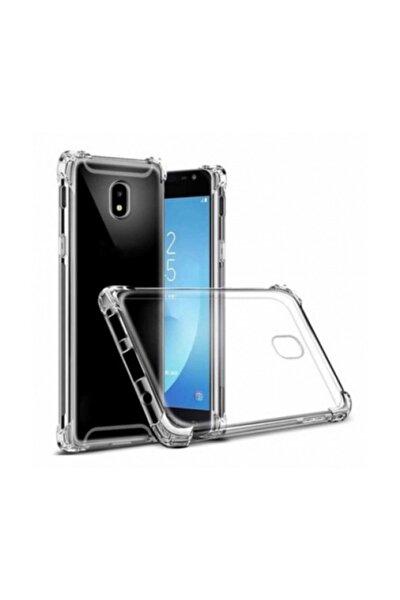 Samsung Galaxy J7 Pro Ultra Ince Şeffaf Airbag Anti Şok Silikon Kılıf Anti Shock Kılıf