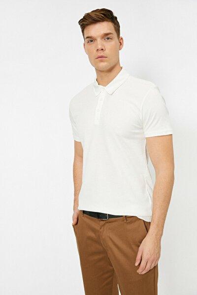 Erkek Beyaz Polo Yaka T-Shirt 0YAM12003OK