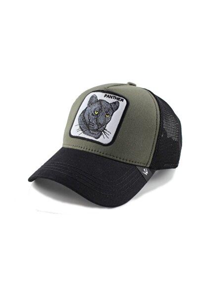 Panter Model Şapka Haki Siyah