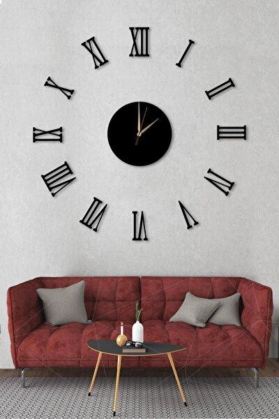Göbek Duvar Saati Büyük Ahşap Romen Rakamlı