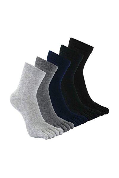 Modatime 9'lu Paket Mantar Ve Koku Önler Parmaklı Çorap