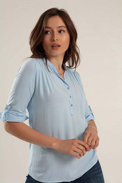 Kadın Hakim Yaka Basic Gömlek Y20s110-3444