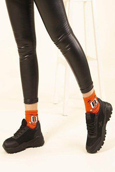Siyah Kadın Sneaker SMK.0120SNE