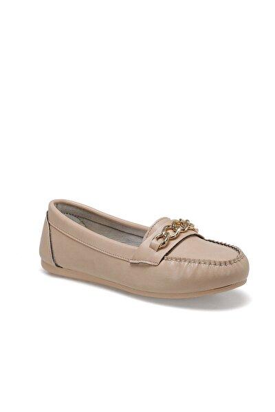 DS20052 Bej Kadın Loafer Ayakkabı 100517612