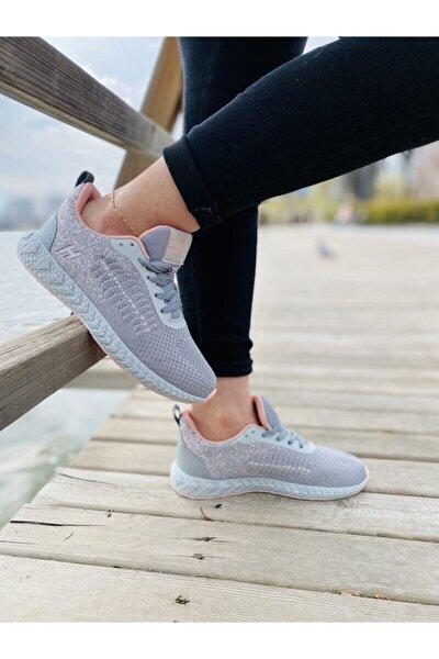 Kadın Gri Spor Ayakkabı Yürüyüş Ayakkabısı 101 20045-z Pj