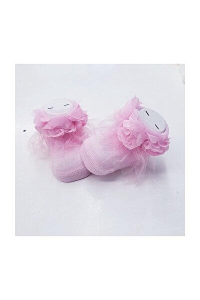 Önden Güller Bebek Çorap