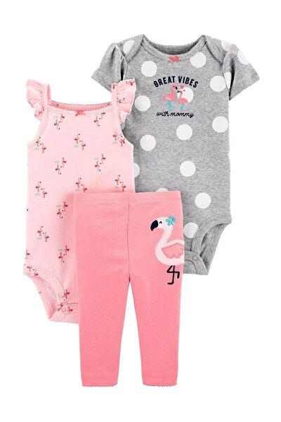 Kız Bebek Flamingo 3'lü Takımı
