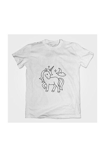 Unicorn Desenli Tişört Boyama Seti