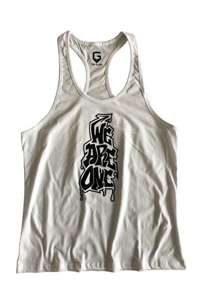Fitness Gym Tank Top Atlet Sporcu Atleti 5060 Beyaz