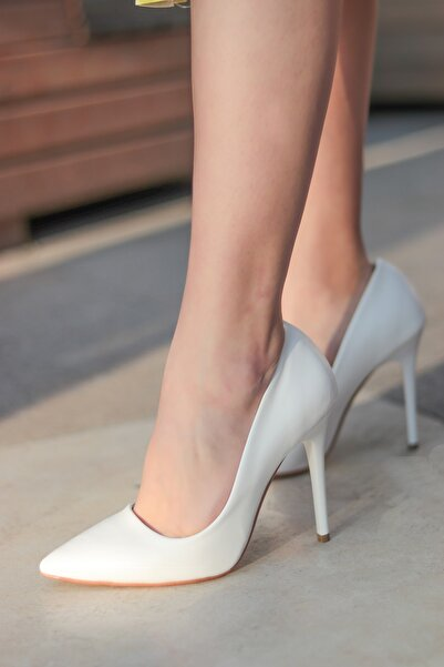 Beyaz Kadın Topuklu Ayakkabı