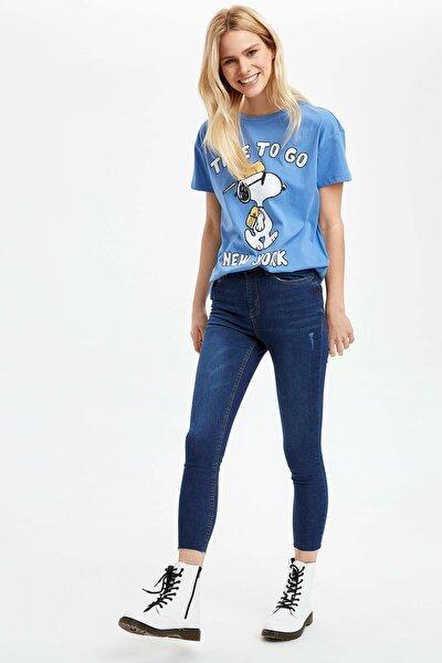 Kadın Mavi Kot Super Skinny Fit Jean Pantolon M9317AZ.20SP.NM28