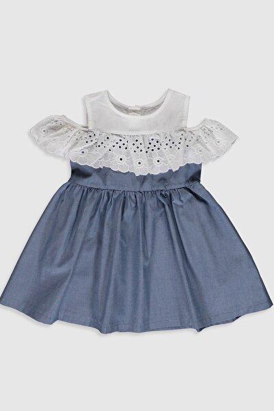 Kız Bebek İndigo Mavi Cxt Elbise