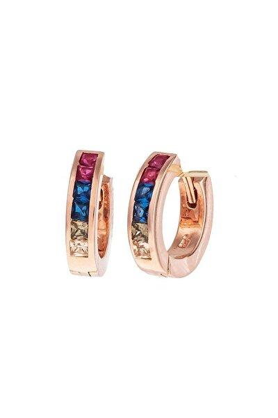 Rainbow Gümüş Halka Küpe Sb1614
