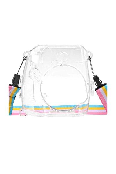 Instax Mini 9 Şeffaf Koruyucu Kılıf-sert Plastik-taşıma Askısı Hediyeli