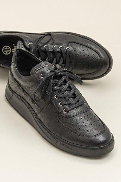 CHANDLER-1 Hakiki Deri Siyah Erkek Ayakkabı