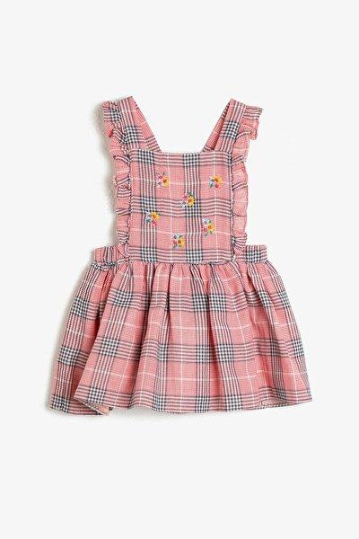Kız Kırmızı Kareli Elbise 0YMG89180OW