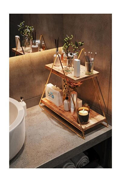 Üçgen Masa Servis Rafı Dekoratif Mutfak Banyo Düzenleyici