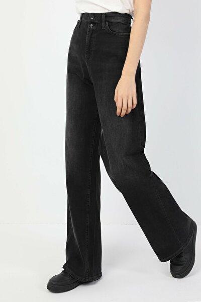 KADIN 790 Rosa Yüksek Bel Super Flare Regular Fit Siyah Kadın Jean Pantolon CL1048820