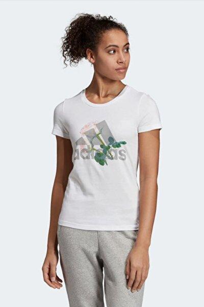W MH FLOWER TEE Beyaz Kadın T-Shirt 101117699