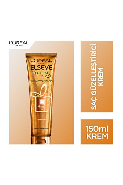 Elseve Mucizevi Yağ Saç Güzelleştirici Krem 150 Ml (Her Saç Tipine Uygun)
