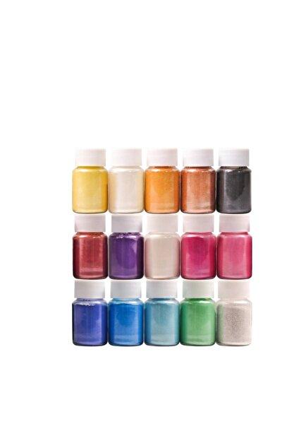 15 Renk Sedefli Epoksi Metalik Toz Pigment Seti