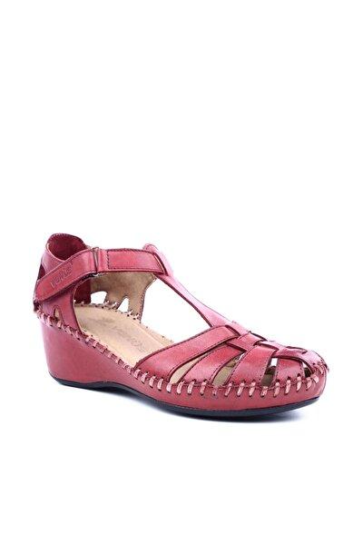Bordo Kadın Sandalet