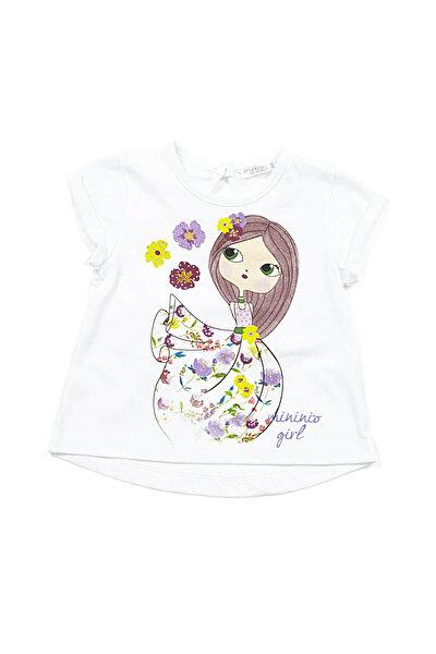 Beyaz Kız Bebek T-Shirt K-61M2LIU53