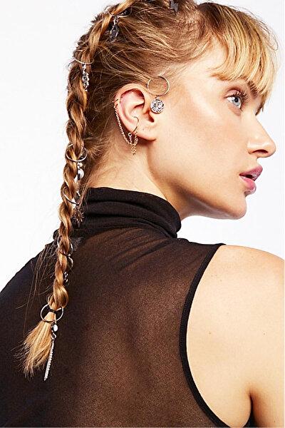 Kadın Multicharm Saç Küpe Seti