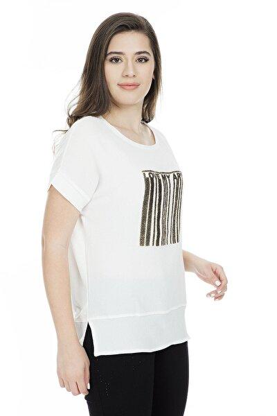 Kadın Ekru T-Shirt - 9Y0811