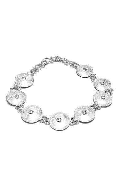 Kadın Yuvarlak Model Telkari Gümüş Bileklik 2020408