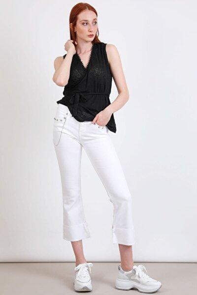 Kadın Beyaz Jeans 3673469059124