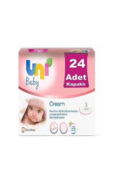 Baby Cream Pişik için Islak Mendil 56 Yaprak 24'lü Kapaklı
