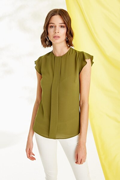 Kadın Zeytin Yeşili Bluz 19YBLZ804
