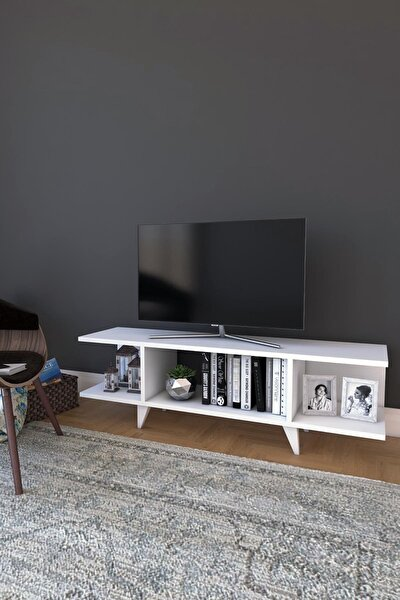 Platin Modern Kapaksız TV Ünitesi Televizyon Sehpası 120 cm