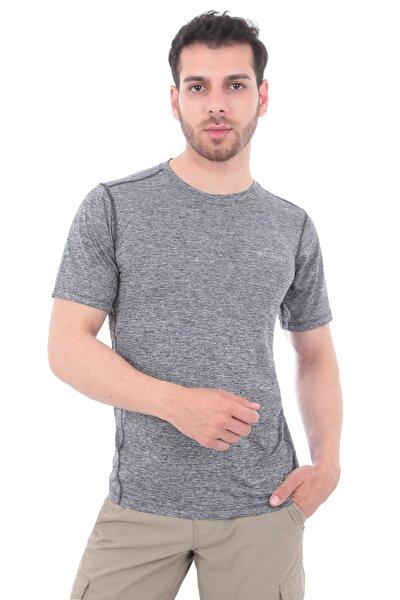 Erkek T-Shirt Gri - Deschutes Runner Short Sleeve Shırt  -