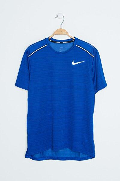 Erkek Mavi T-shirt - M Nk Dry Miler Top Ss - AJ7565-438