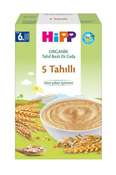 Organik 5 Tahıllı Kaşık Maması 200 gr