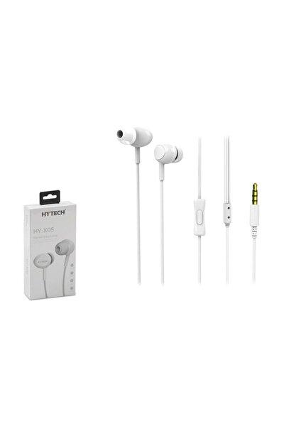 HY-X05 Mobil Telefon Uyumlu Beyaz Kulak İçi Mikrofonlu Kulaklık