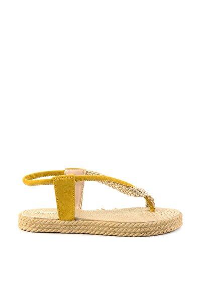 Hardal Süet Kadın Sandalet H0674014565