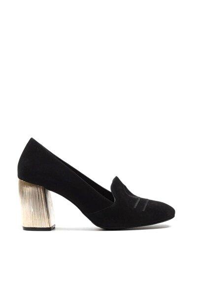 Hakiki Deri Siyah   Klasik Topuklu Ayakkabı 01AYH146890A100
