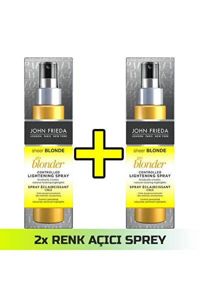 Sarı Saçlar İçin Renk Açıcı Sprey - Sheer Blonde Spray 100 ml x 2 Adet 50371561511221