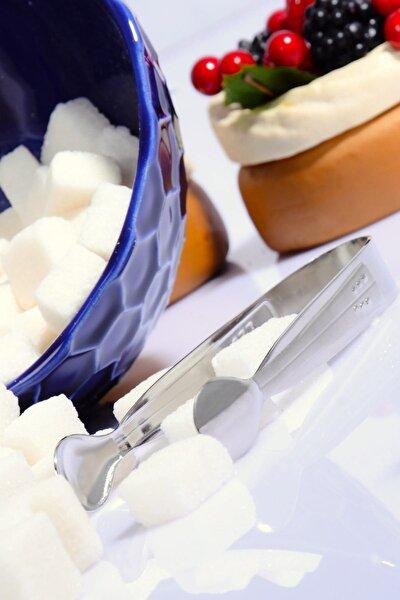 3 Adet Paslanmaz Çelik Afilli Şeker Maşası